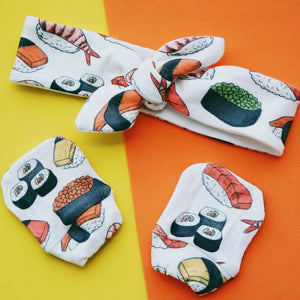Organic Cotton Headbands - Sushi