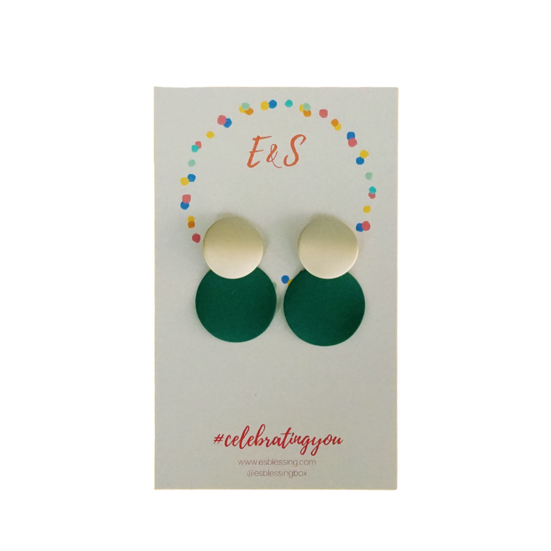 E&S Clay Earrings - Forest Green