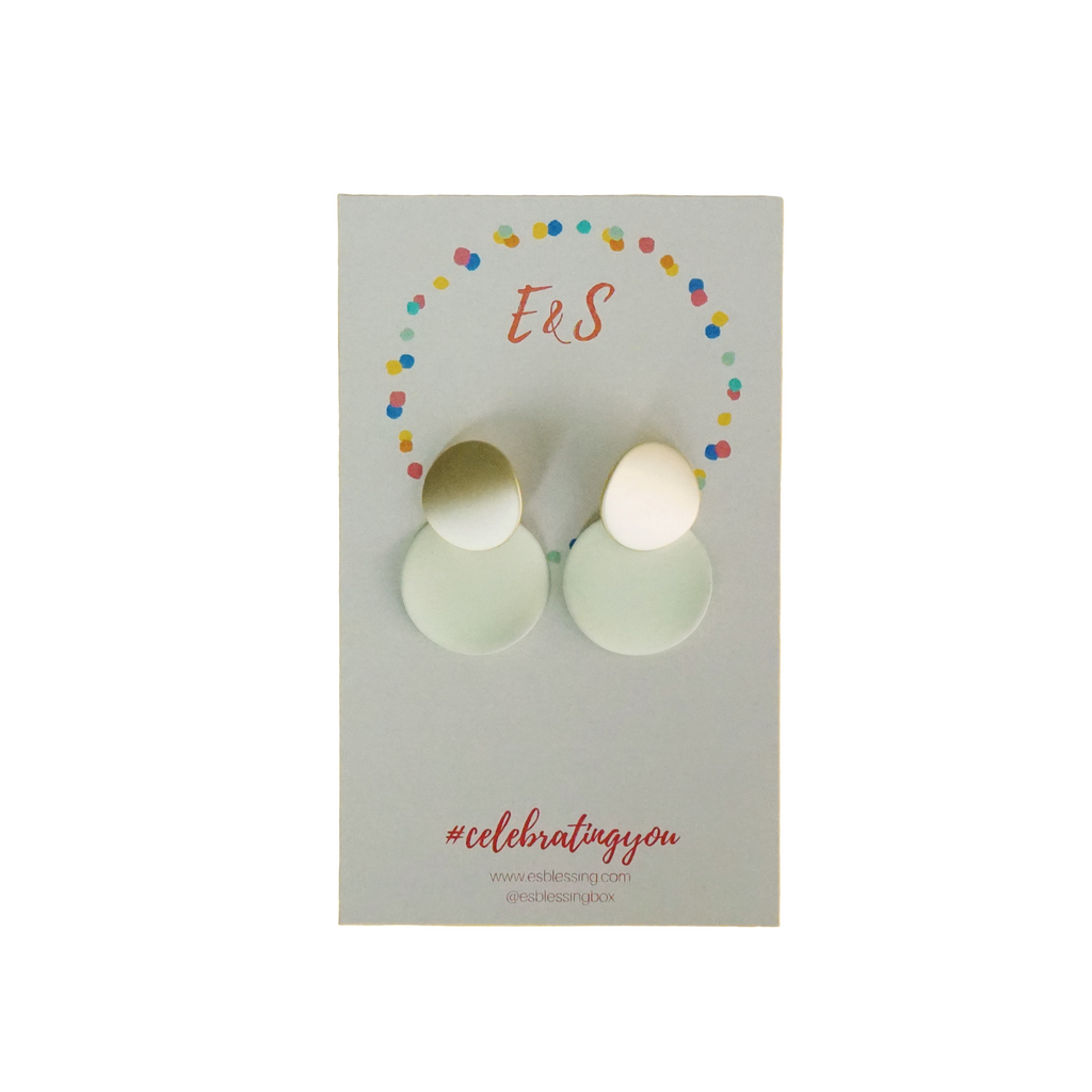 E&S Clay Earrings - Cream