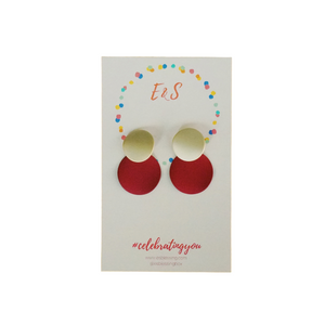 E&S Clay Earrings - Red