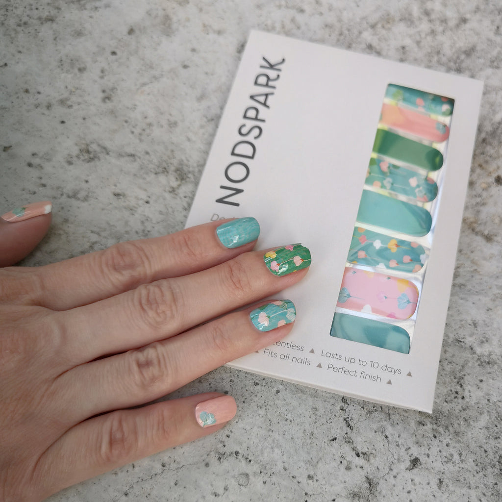 Whimsical Garden Nail Art