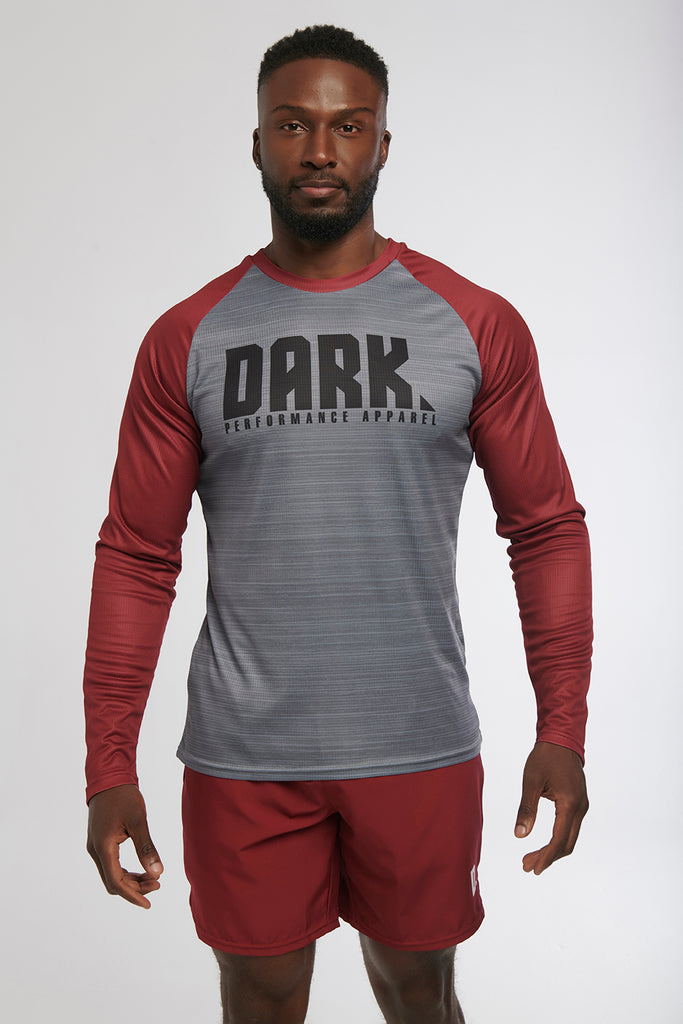 The Burgundy L/S Baseball