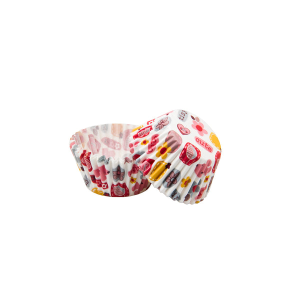 Cupcake Liners - White with Motifs - Must Love Party