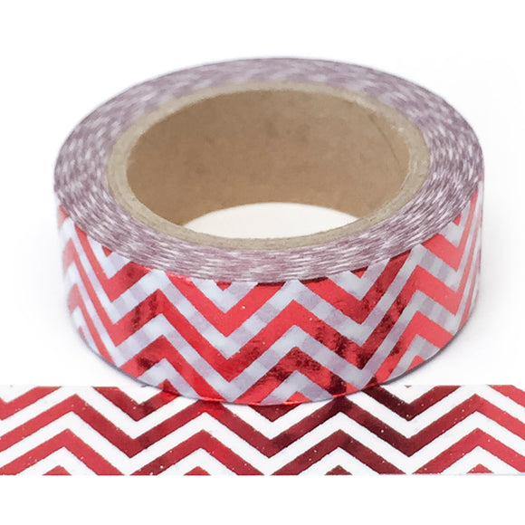 Washi Tape - Foil - Red Chevron - Must Love Party