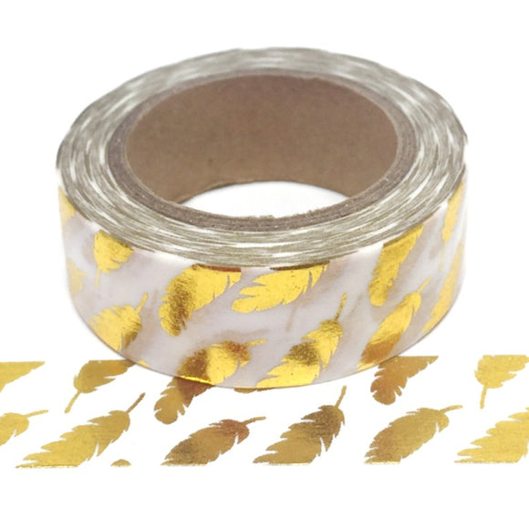 Washi Tape - Gold Feathers - Must Love Party
