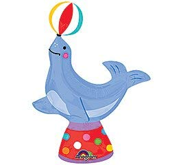 Mini Circus Seal Foil Balloon - Must Love Party
