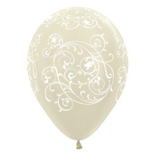 Balloons - Clear Filigree (3) - Must Love Party