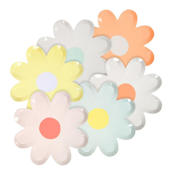 Pastel Daisy Plates (12) - Must Love Party