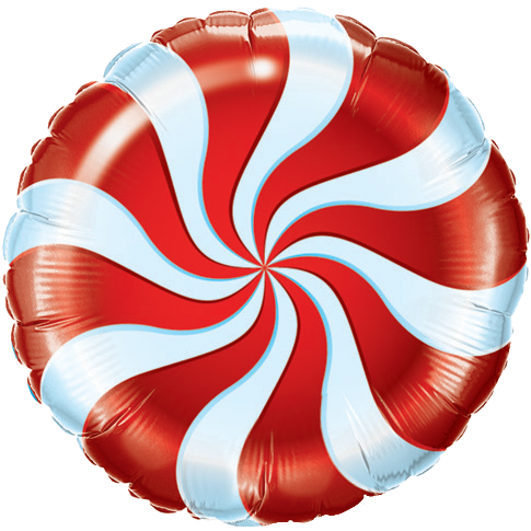Candy Swirl Red Foil Balloon