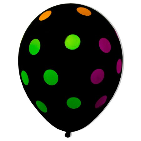 Polka Neon Balloons (5) - Must Love Party