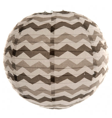 Black Chevron Paper Lantern - Must Love Party