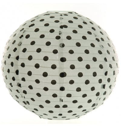 Black Dotted Paper Lantern - Must Love Party