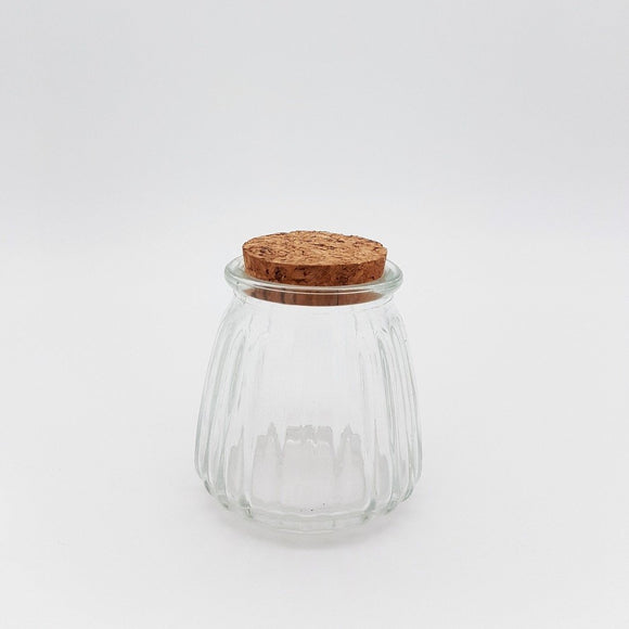 Mini Ripple Glass Bottle with Cork Lid - Must Love Party