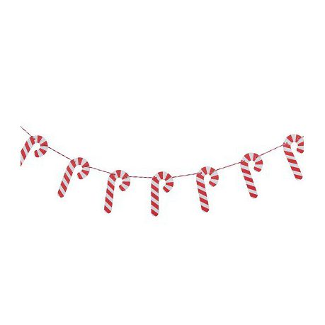 Candy Cane Wooden Bunting