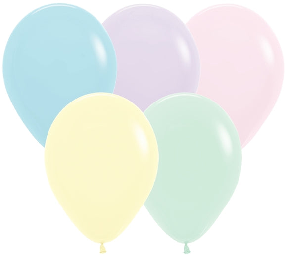 Assorted Matte Pastel Balloons