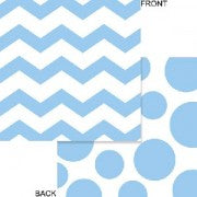 Chevron - Pastel Blue Napkins - Must Love Party
