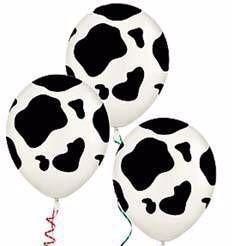 Balloons - Cow Print (3) - Must Love Party