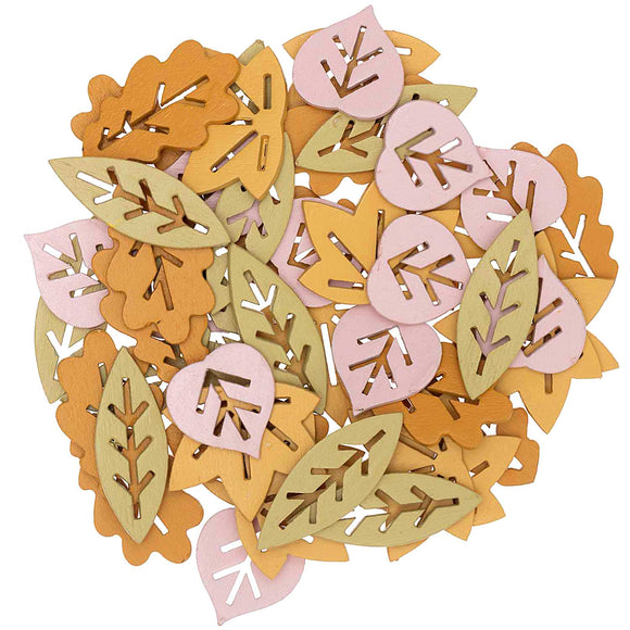 Wooden Brown Leaf Mix Confetti