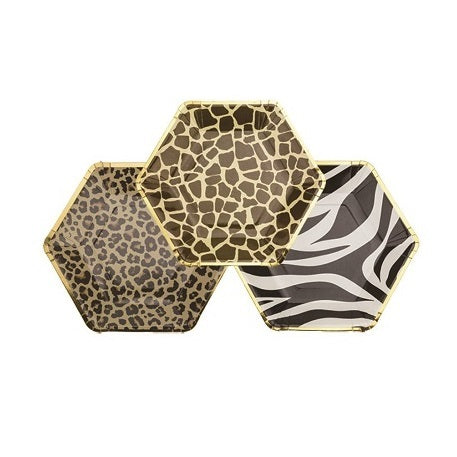 Assorted Safari Paper Plates