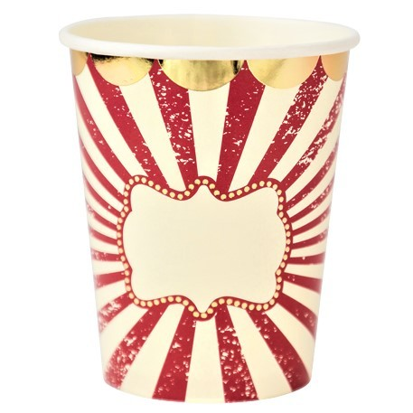 Vintage Circus Paper Cups