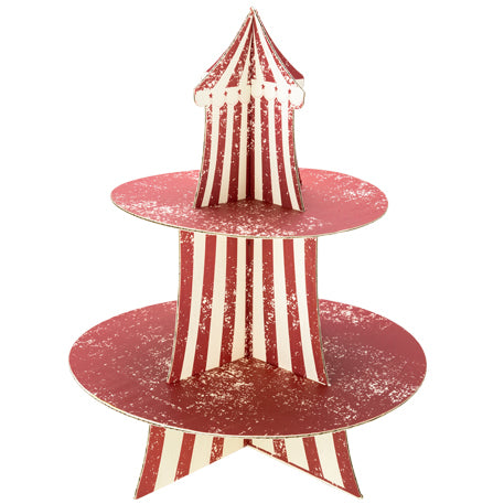 Vintage Circus 2 tier Cake Stand