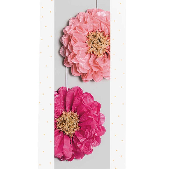 Tissue Paper Flowers - Pink Mix