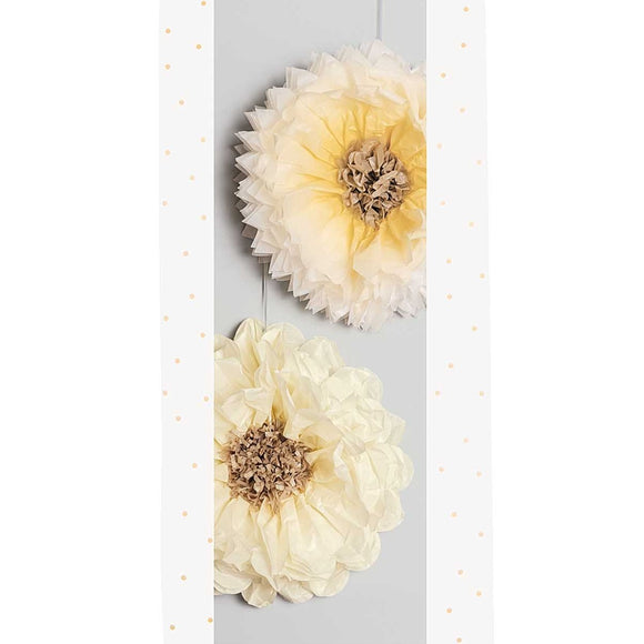 Tissue Paper Flowers - Yellow Mix