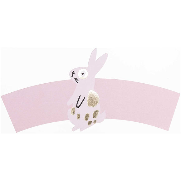 Pink Bunny Paper Sleeves For Paper Cups