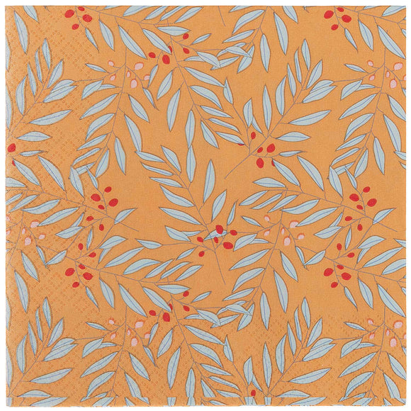 Branches on Orange Napkins