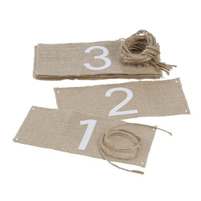 Hessian Table Numbers - Must Love Party