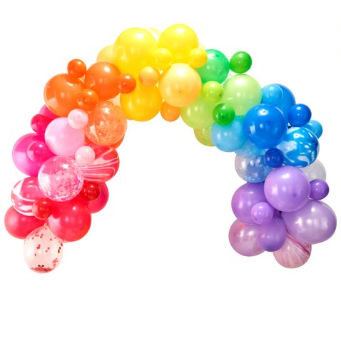 DIY Balloon Arch - Rainbow