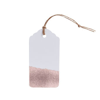 Luggage Tag - Dipped Rose Gold Foil