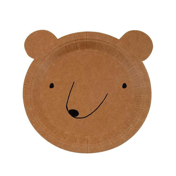 Bear Plates (small) - Must Love Party