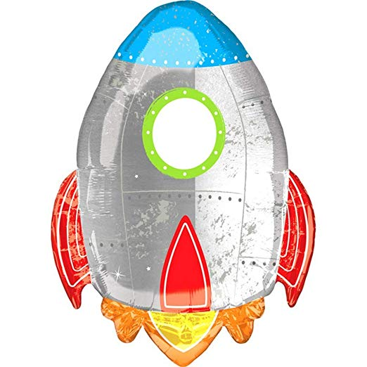 Blast Off Foil Balloon - Must Love Party