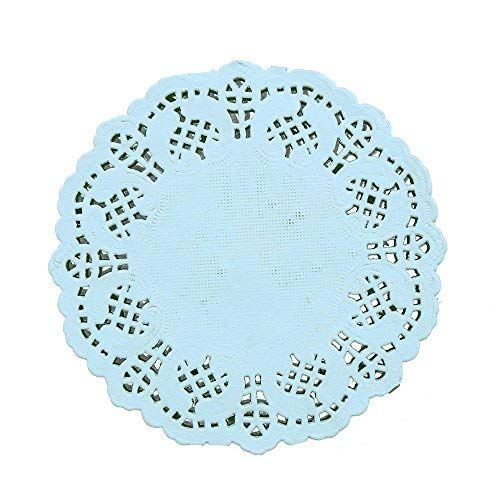 Mini Blue Lace Doilies - Must Love Party
