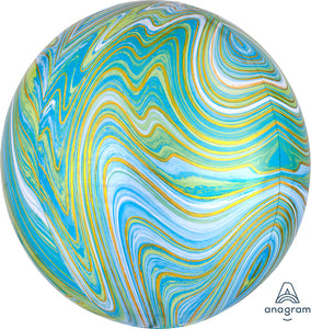 Blue Green Marble Orb Balloon - Must Love Party