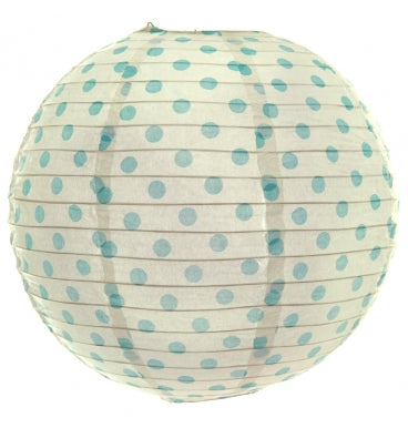 Blue Dotted Paper Lantern - Must Love Party