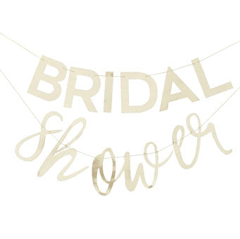 Gold 'Bridal Shower' Bunting
