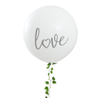 White 'Love' Balloon