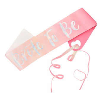 Pink & Iridescent Bride To Be Hen Party Sash