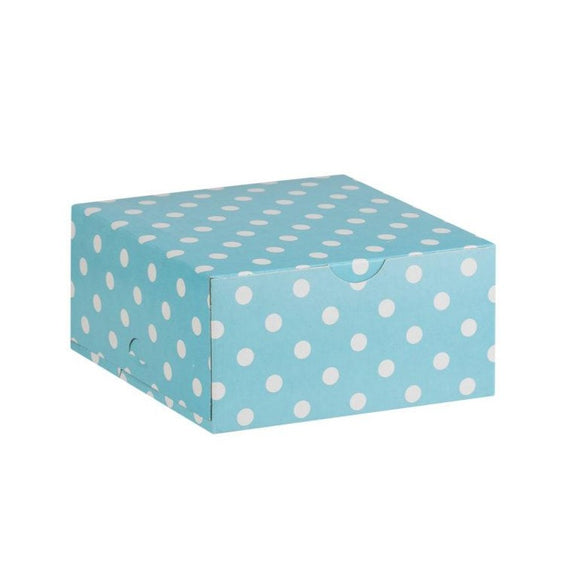 Blue with White Dot Cake Box
