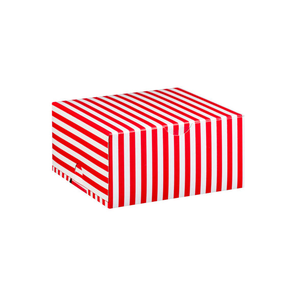 Red with White Stripe Cake Box