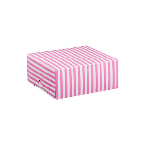Cerise Pink with White Stripe Cake Box