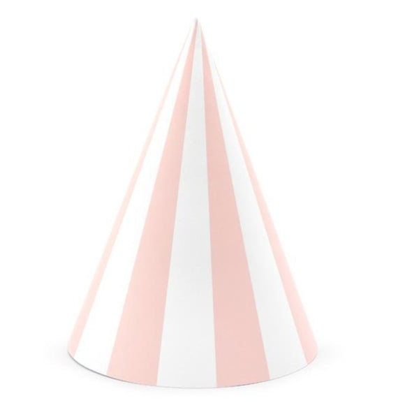 Striped Pink Party Hats - Must Love Party