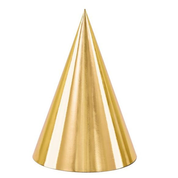 Metallic Gold Party Hats - Must Love Party