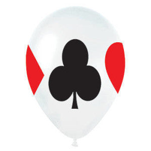 Playing Cards Suit Symbols Balloons (3) - Must Love Party