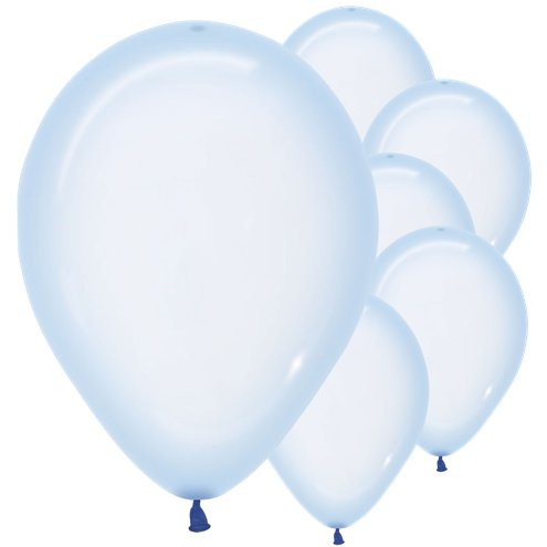 Crystal Pastel Blue Balloons - Must Love Party