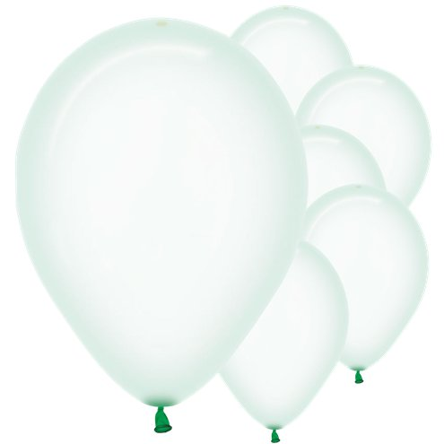 Crystal Pastel Green Balloons - Must Love Party