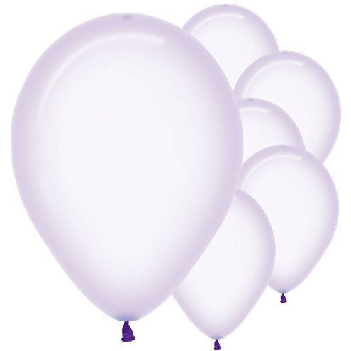 Crystal Pastel Lilac Balloons - Must Love Party