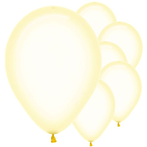 Crystal Pastel Yellow Balloons - Must Love Party